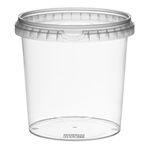 Picture of TP Plastic pot rond 1180ml met veiligheidssluiting inclusief deksel