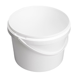 Image de Seau 5L blanc avec anse en plastique