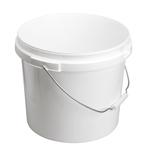 Image de Seau 16,4L blanc avec anse en métal