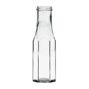Picture of Sausfles hexagonaal  250ml glas TO43 clear