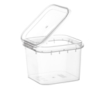 Picture of TPS Plastic pot vierkant 350ml met scharnierdeksel