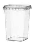 Image de TPS Pot carré 425ml avec fermeture de sécurité couvercle compris